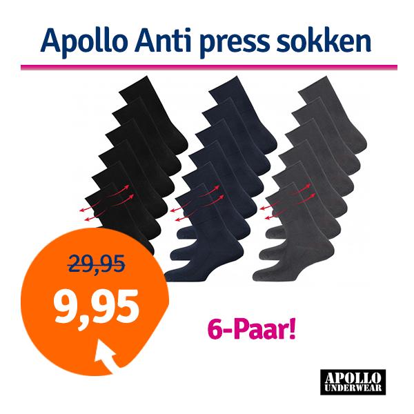 Dagaanbieding - Dagaanbieding Apollo Anti press sokken dagelijkse aanbiedingen