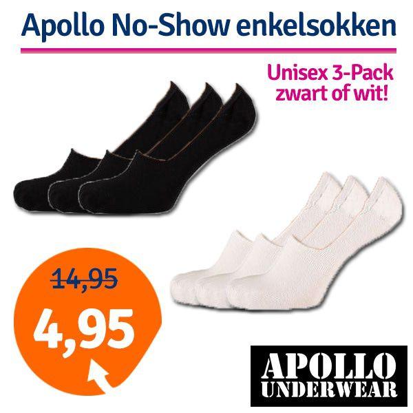 Dagaanbieding - Dagaanbieding Apollo No-Show enkelsokken 3-pack dagelijkse koopjes