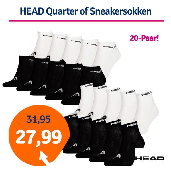 Dagaanbieding HEAD Quarter- of Sneakersokken 20-pack