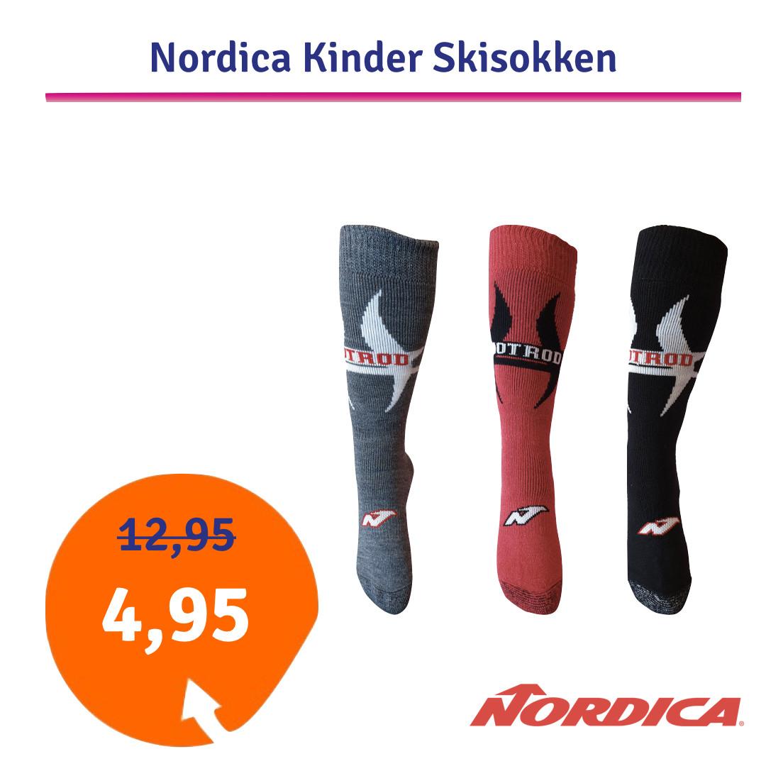 Dagaanbieding - Dagaanbieding Nordica Kinder Skisokken dagelijkse aanbiedingen