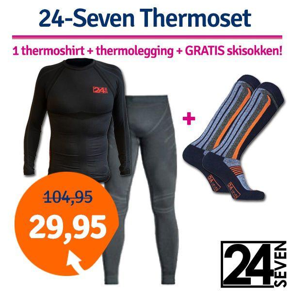 Dagaanbieding - Dagaanbieding 24-seven thermoset + gratis skisokken dagelijkse aanbiedingen