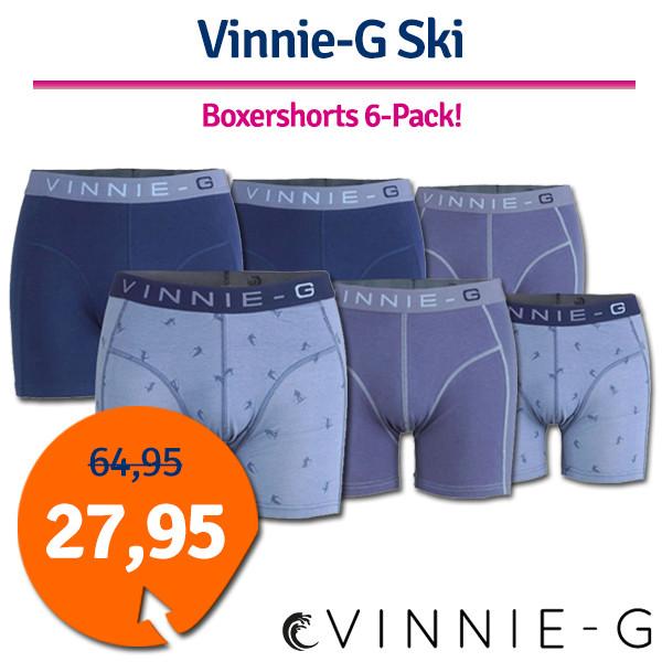 Dagaanbieding - Dagaanbieding Vinnie-G boxershorts Ski 6-pack dagelijkse aanbiedingen
