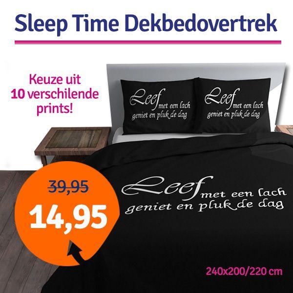 Dagaanbieding - Dagaanbieding Sleep Time dekbedovertrek 240x200/200 dagelijkse aanbiedingen
