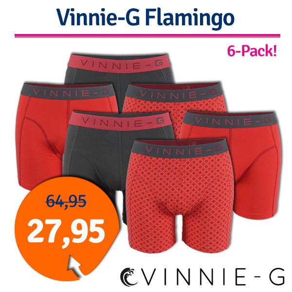 Dagaanbieding - Dagaanbieding Vinnie-G boxershorts Flamingo 6-pack dagelijkse aanbiedingen