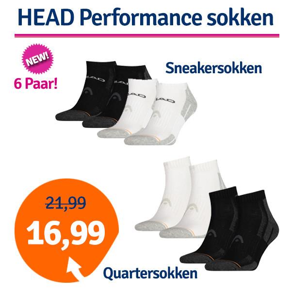 Dagaanbieding - Dagaanbieding HEAD Performance Quarter- of Sneakersokken dagelijkse aanbiedingen