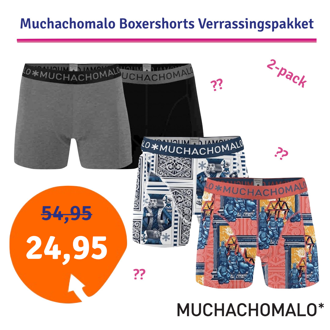 Dagaanbieding - Dagaanbieding Muchachomalo boxershorts verrassingspakket 2-pack dagelijkse koopjes