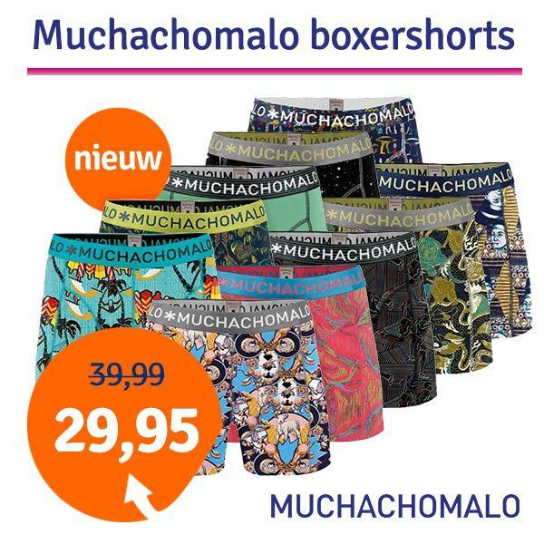 Dagaanbieding - Dagaanbieding Muchachomalo boxershorts 2-pack dagelijkse aanbiedingen