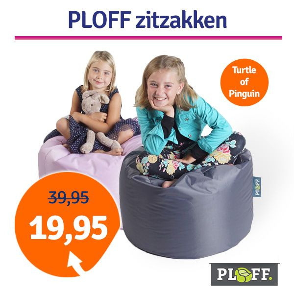 Dagaanbieding Ploff Turtle of Pinguin zitzak