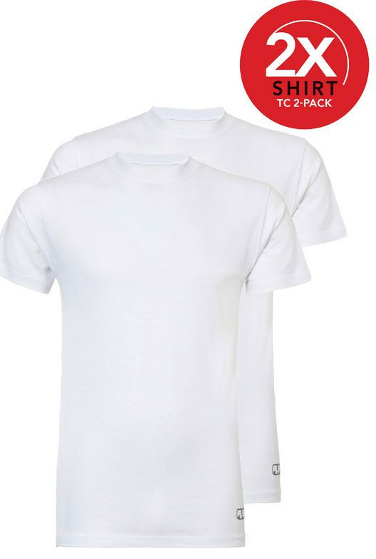 Ten Cate 2-Pack Goodz T-shirts Ronde Hals Wit