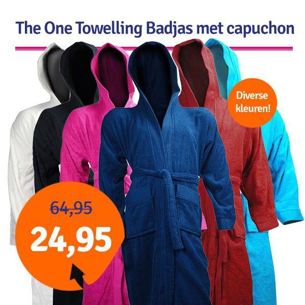 Dagaanbieding - Dagaanbieding The One Towelling Badjas met capuchon dagelijkse aanbiedingen