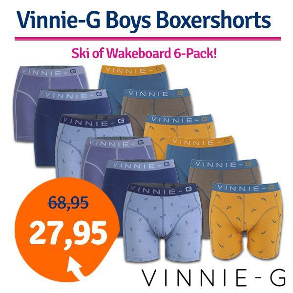 Dagaanbieding - Dagaanbieding Vinnie-G Boys Boxershorts 6-pack dagelijkse aanbiedingen