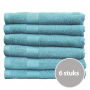 Seashell Handdoek 50 x 100 cm 500 gram Denim - 6 stuks