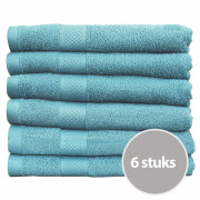 Seashell Handdoek 70 x 140 cm 500 gram Denim - 6 stuks