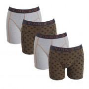 Vinnie-G boxershorts Military Olive Grey - Print 4-pack