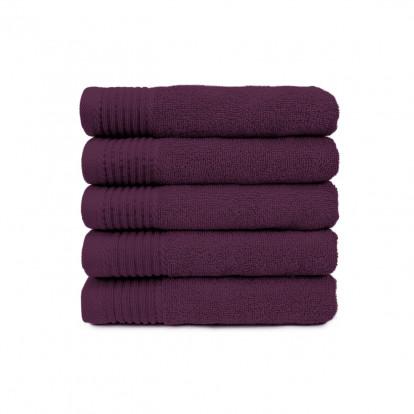 The One Handdoek 450 gram 50x100 cm Plum(5 stuks)