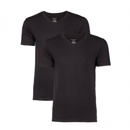 Basic T-shirt heren Zwart