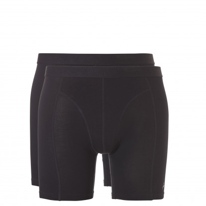 Ten Cate Men Basic Shorts Long black 2-pack