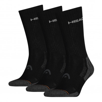 HEAD Performance Crew 3-pack Unisex Black