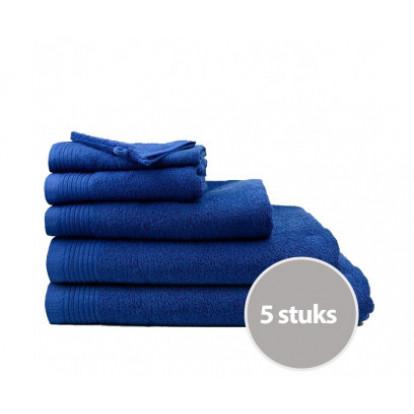 Dagaanbieding The One Badhanddoeken Deluxe 70x140 Voordeelpakket (5 stuks) - Navy