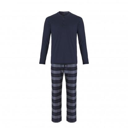 Ten Cate Heren Pyjama Navy/Grijs