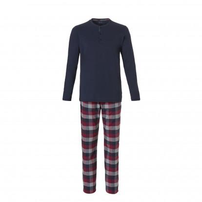 Ten Cate Heren Pyjama Rood/Navy