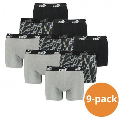 Puma Boxershorts Grey Black 9-pack