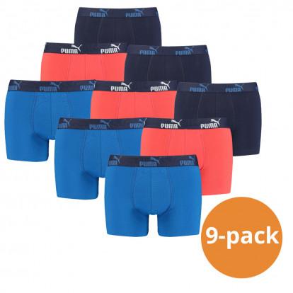 Puma Boxershorts Blue Red 9-pack