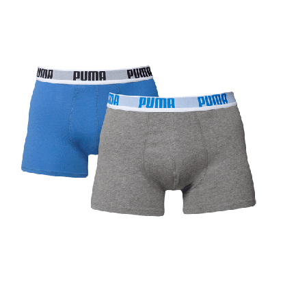 Puma boxershorts 4-pack Blue Grey
