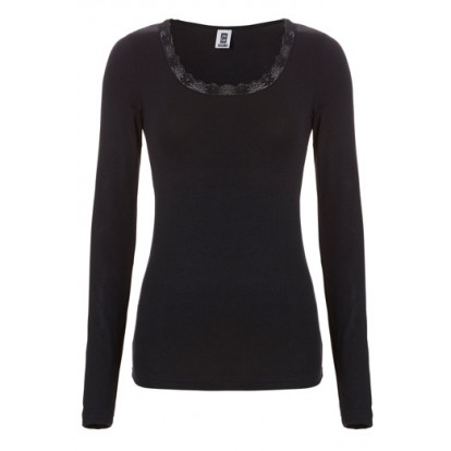 Ten Cate Women thermal lace shirt Black