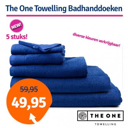 Dagaanbieding The One Badhanddoeken Deluxe 70x140 Voordeelpakket (5 stuks)