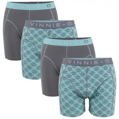 Vinnie-G boxershorts Mint Print - Grey 4-Pack