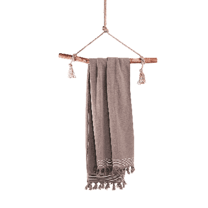 WALRA Hamamdoek Soft Cotton Taupe, 100x180