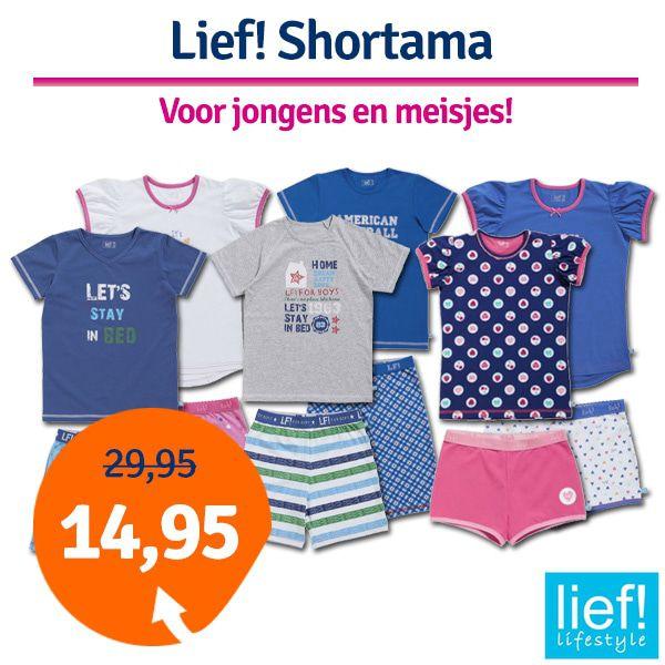 Lief! Girls shortama 40005 White Hearts-110/116