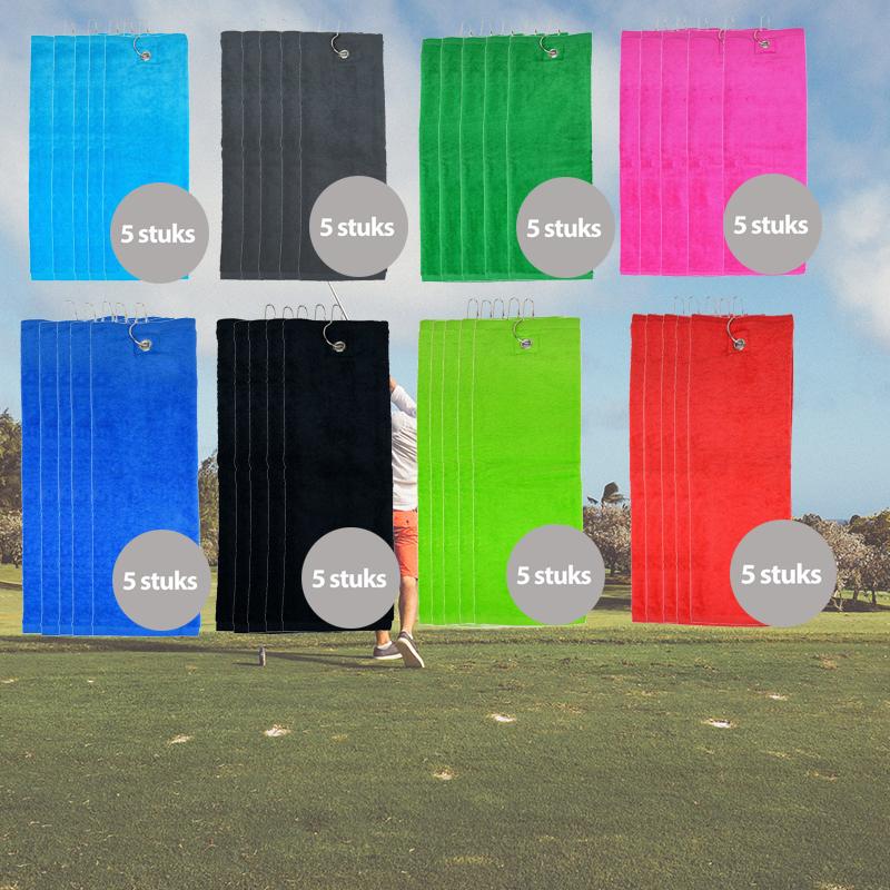 The One Golfhanddoek 450 gram Blauw (5 stuks)