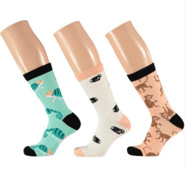 Apollo Dames Computer sokken Animal 36/41 3-pack