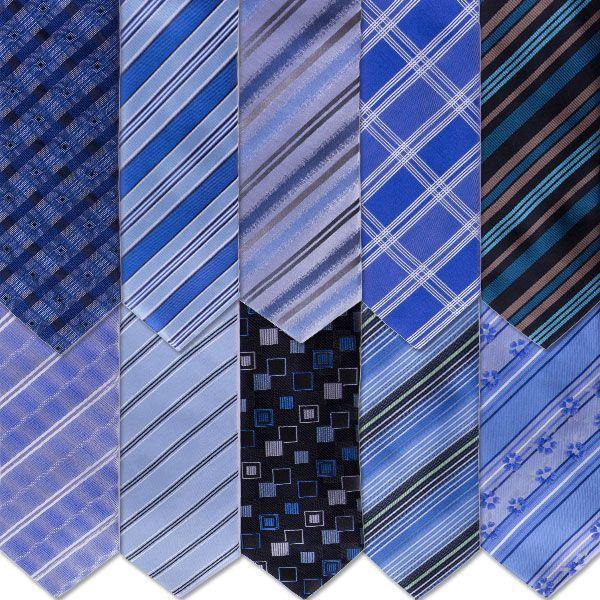 Stropdassen Verrassing Pakket Blauw - 4 stuks