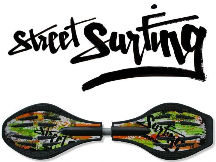 Streetsurfing Waveboard Wave Graffity green orange