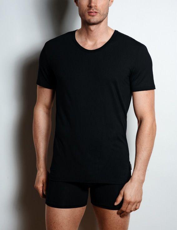Sloggi Men Basic Shirt zwart V-neck