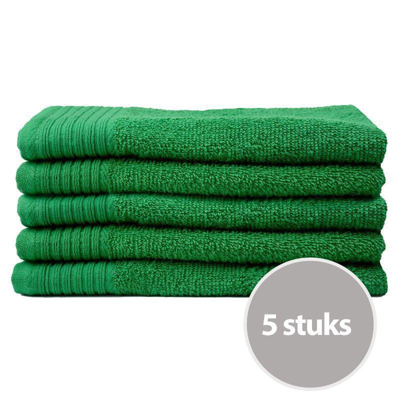 The One Gastendoek Voordeelpakket 450 gram 30x50 cm Groen (5 stuks)