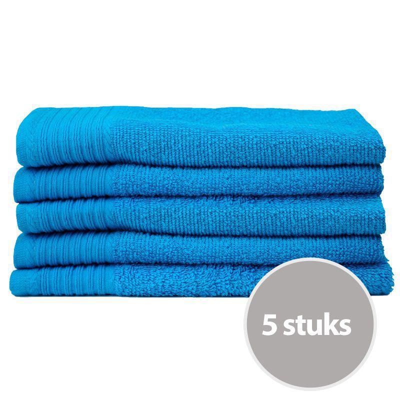 The One Gastendoek Voordeelpakket 450 gram 30x50 cm Turquoise (5 stuks)