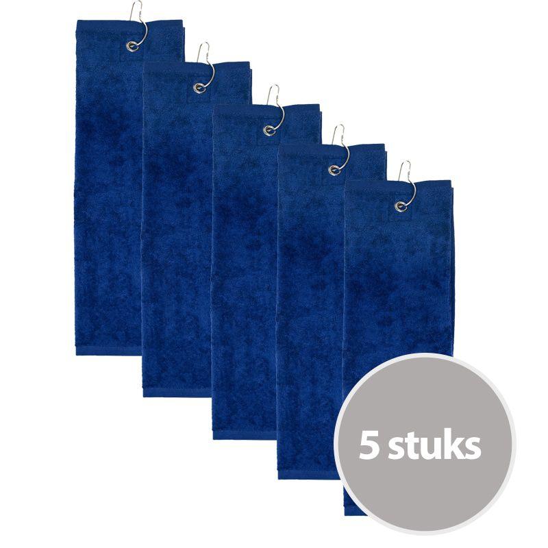 The One Golfhanddoek 450 gram Donker blauw (5 stuks)