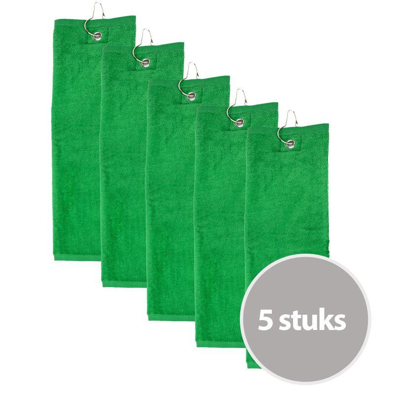 The One Golfhanddoek 450 gram Groen (5 stuks)