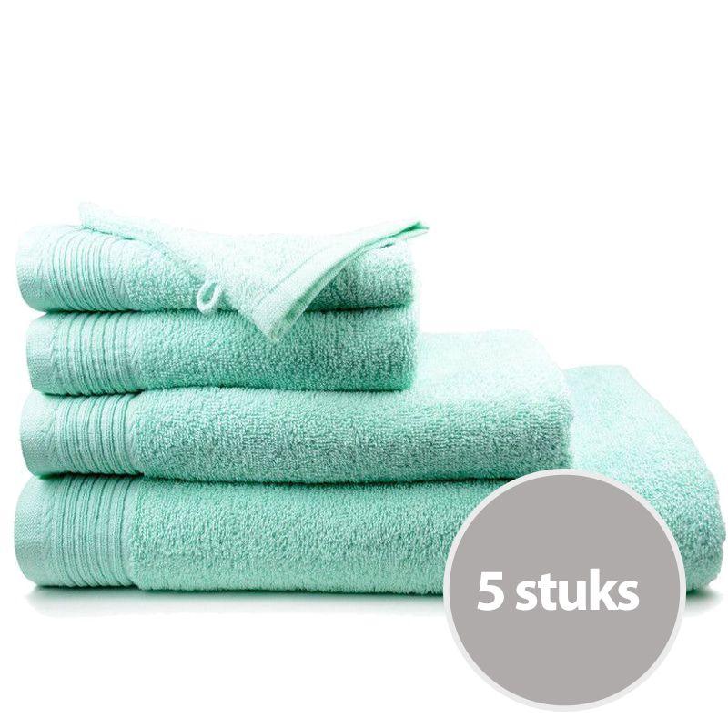 The One Handdoek Deluxe Voordeelpakket 50x100 550 gr Mint (5 stuks)