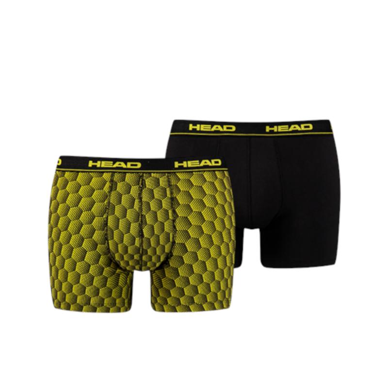 Head Boxershort HoneyComb Print Box Black/Grey/Yellow