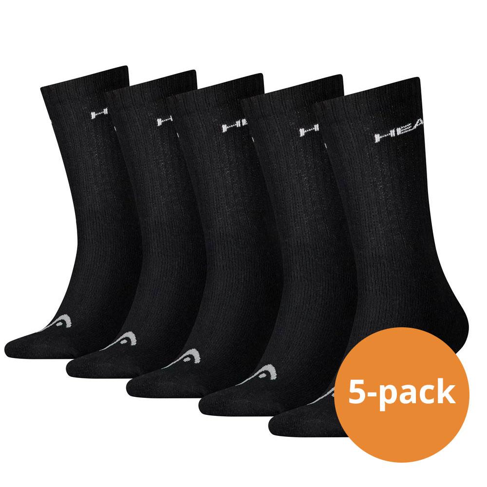 Head Crew sokken 5-pack Zwart