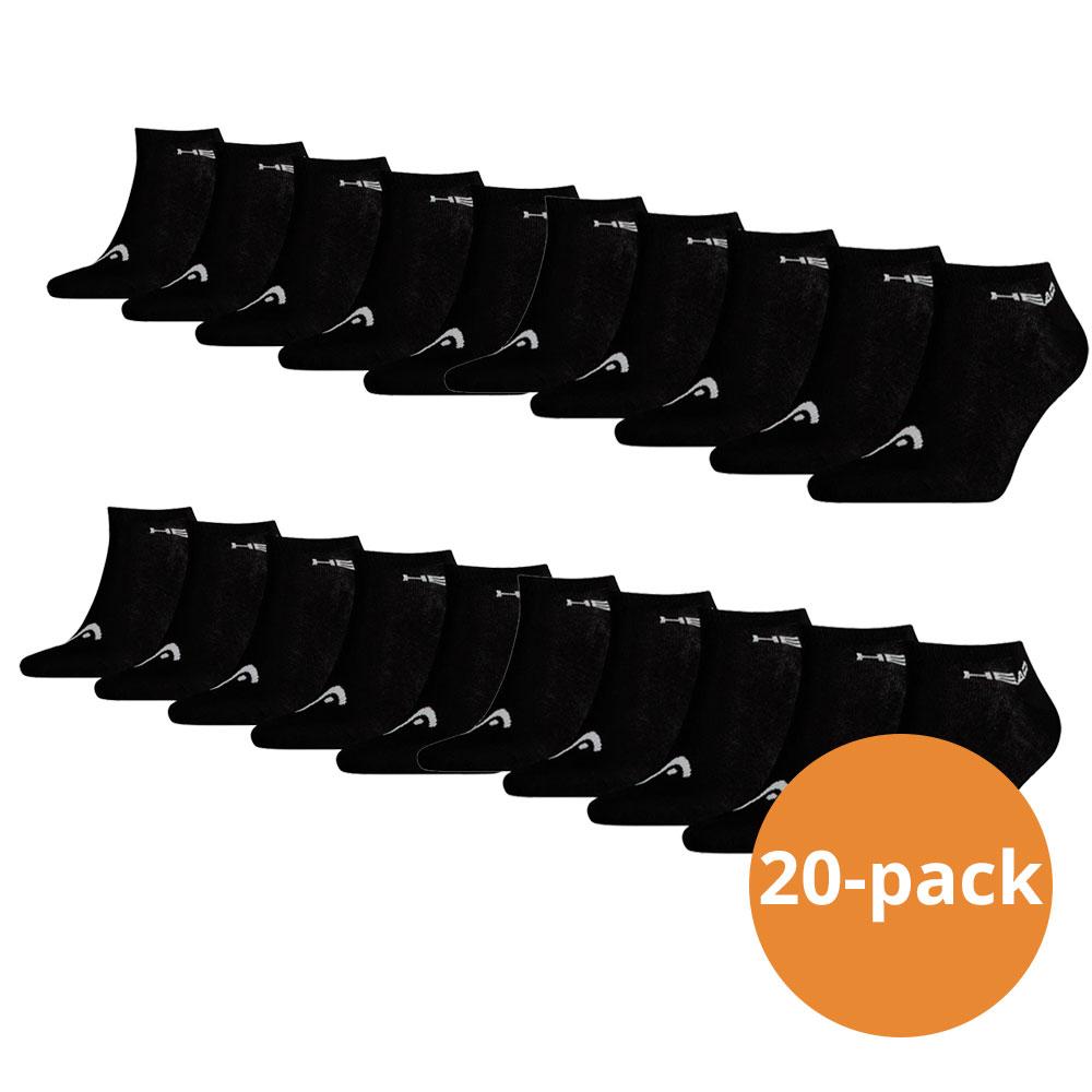 Head Sneaker sokken 20-pack Zwart