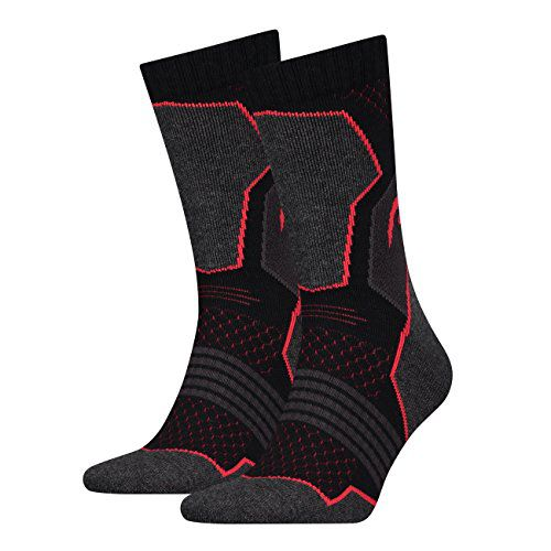 HEAD Hiking Crew sokken 2-pack Unisex Black/red