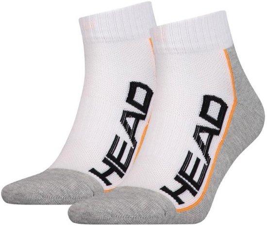 HEAD Stripe Quarter 2-pack white/grey