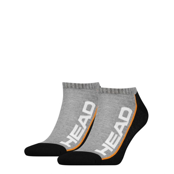 HEAD Stripe Sneaker 2-pack grey/black-39/42