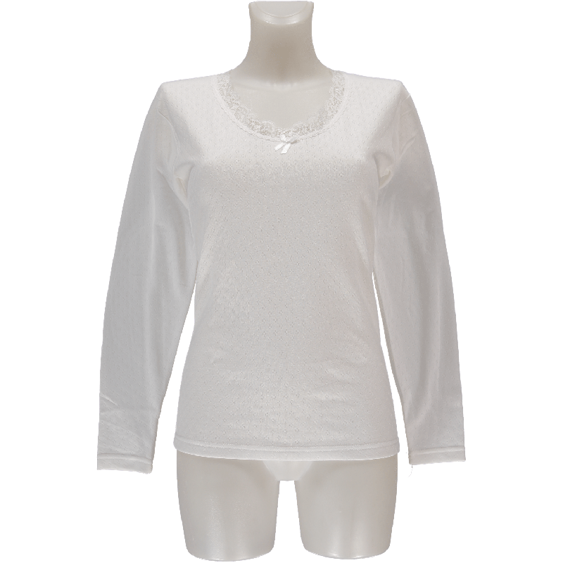 Heat Keeper Ladies Thermo T-Shirt Long Sleeves Wit-L